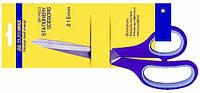 Ножницы канцелярские 21,5 см, пластиковые ручки с резиновыми вставками BUROMAX (3850.2)