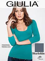 Бесшовная футболка женская (Sharkskin (Серый))