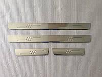Накладки на пороги Mitsubishi Lancer 9 2003-2007