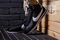 Мужские кроссовки Nike Cortez (Найк Кортез) черно-белые