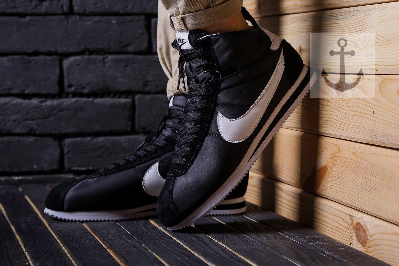 Мужские кроссовки Nike Cortez (Найк Кортез) черно-белые - Магазин одежды и обуви JSJ в Киеве