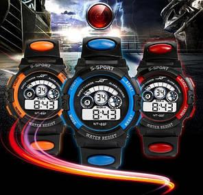 Спортивные электронные наручные часы NT-Sport purple, фото 2