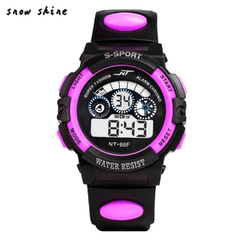 Спортивные электронные наручные часы NT-Sport purple