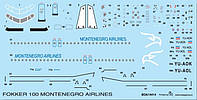 "Декаль для самолета Fokker 100 ""Montenegro Airlines"""