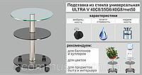 Подставка для цветов Ultra V трехъярусная Cgg/met(chr)