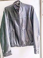 Куртка мужская кожаная, черная, размер 44. (6550.1)