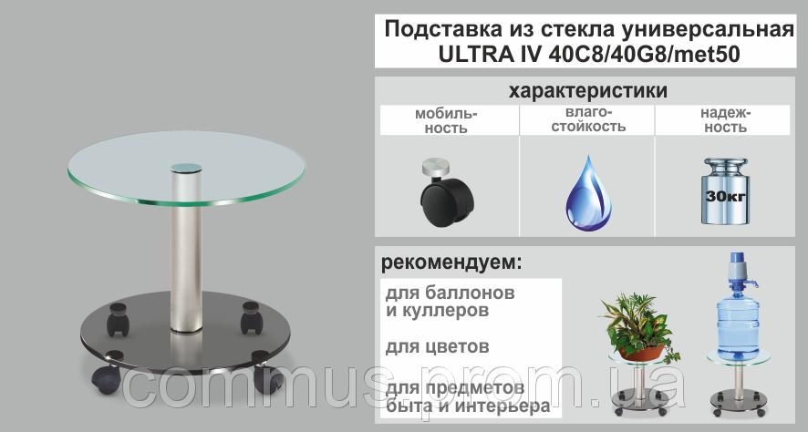 Подставка для цветов Ultra IV двухъярусная стекло-стекло