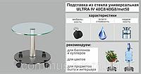Подставка для цветов Ultra IV двухъярусная стекло-стекло, фото 1