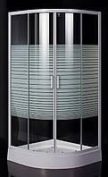 "TISZA (AMUR) душевая кабина 90*90*185 см, на мелком поддоне, профиль белый, стекло ""Frizеk"" (стекла+двери)"