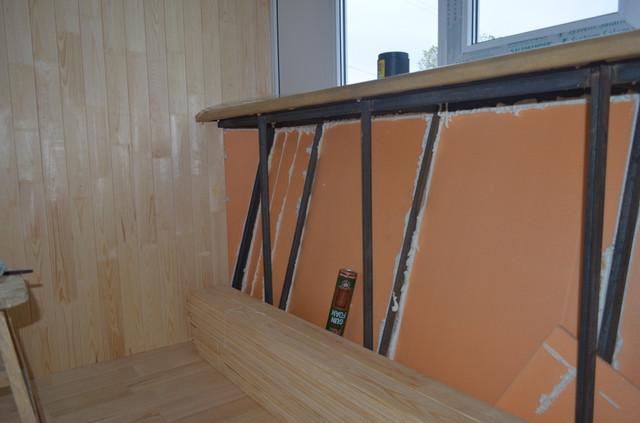отделка балкона с утеплением