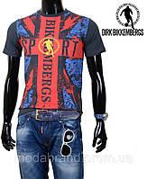 Стильная молодежная мужская футболка темносерая