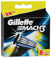 Лезвия Gillette Mach3, 8 шт (Колумбия)