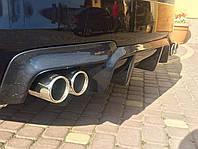 Диффузор заднего бампера-M для BMW F10 2010-2016  (разводка на две трубы)