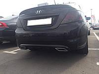 Диффузор заднего бампера Hyundai Accent 2011-2015 структурный