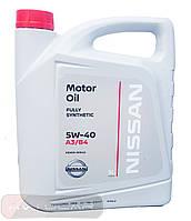 Масло моторное Nissan 5W-40 ✔ 5л.