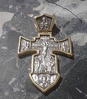 Крест серебряный Распятие.Ангел Хранитель ( Морской)