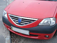 Хром накладки на решетку радиатора Dacia Logan 2004-2011