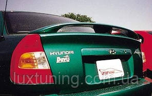 Спойлер Hyundai Accent 2000-2006 (TOP WING) ABS пластик под покраску