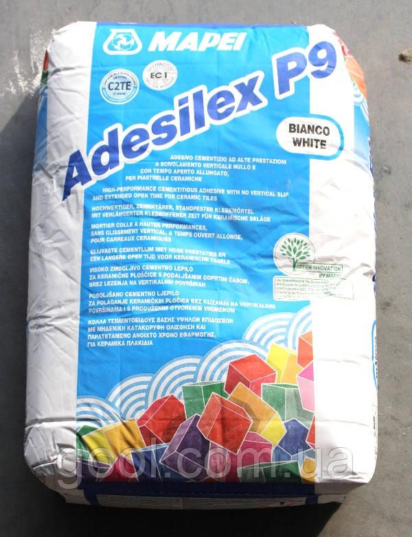 Клей Мапей Адесилекс П 9 Белый для теплого пола плитки и камня мешок 25 кг