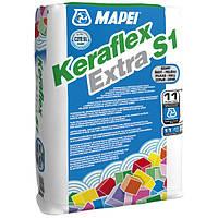 Клей Мапей Керафлекс Экстра С 1 Серый высокоэластичный клей для плитки и камня мешок 25 кг