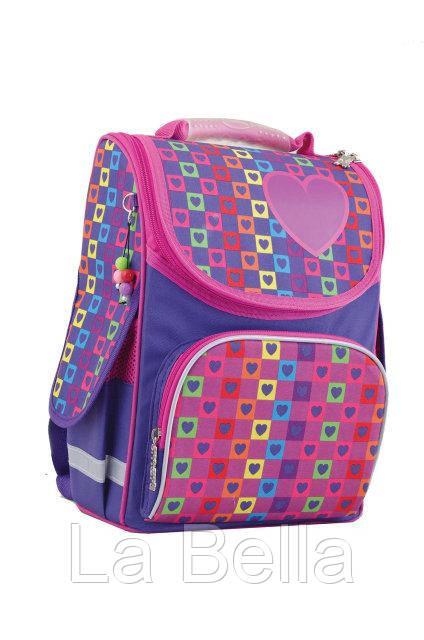 Ранец школьный каркасный  для девочки  Rainbow