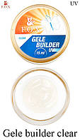 Гель-желе F. O. X прозорий (Gele Builder Gel Clear) 15 мл