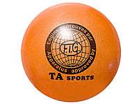 Мяч для художественной гимнастики (д 19) оранжевый
