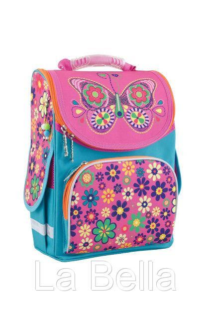 Ранец школьный каркасный  для девочки  Бабочка