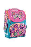 Ранец школьный каркасный  для девочки  Бабочка, фото 1