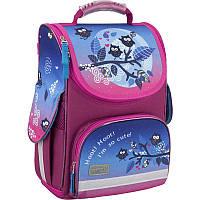 Рюкзак Kite K16-500S-1 500 Owls школьный каркасный детский для девочек 34x26x13см