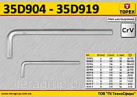Ключ шестигранный 4мм, набор 10шт,  TOPEX  35D904