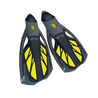 Ласты с закрытой пяткой (калоша цельная) DORFIN PL-444 (р-р M(38-39 ) - XL(44-45), желтый, синий, черный)