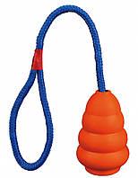 Игрушка Trixie Jumper on a Rope для собак резиновая, на веревке, 8х30 см
