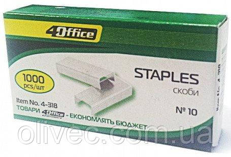 "Скоби для степлера ""4Office"" № 10, 1000 шт."