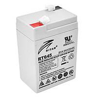 Аккумуляторная батарея RITAR RT645, 6V 4.5Ah