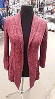 Женский кардиган-пиджак большого размера, однотонный меланж, цвета в ассортименте