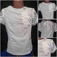 Девичья школьная блузка, рост 116-146 см., 150