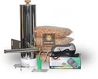 Дымогенератор «Копти Сам» Любитель для коптильни холодного и горячего копчения. Без сбора  конденсата.