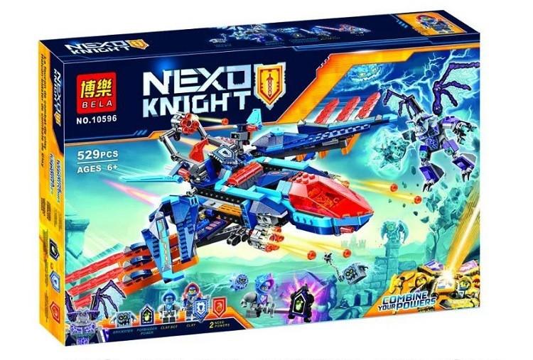Конструктор Bela 10596 Nexo Knights Самолет-истребитель Сокол Клэя 529 деталей