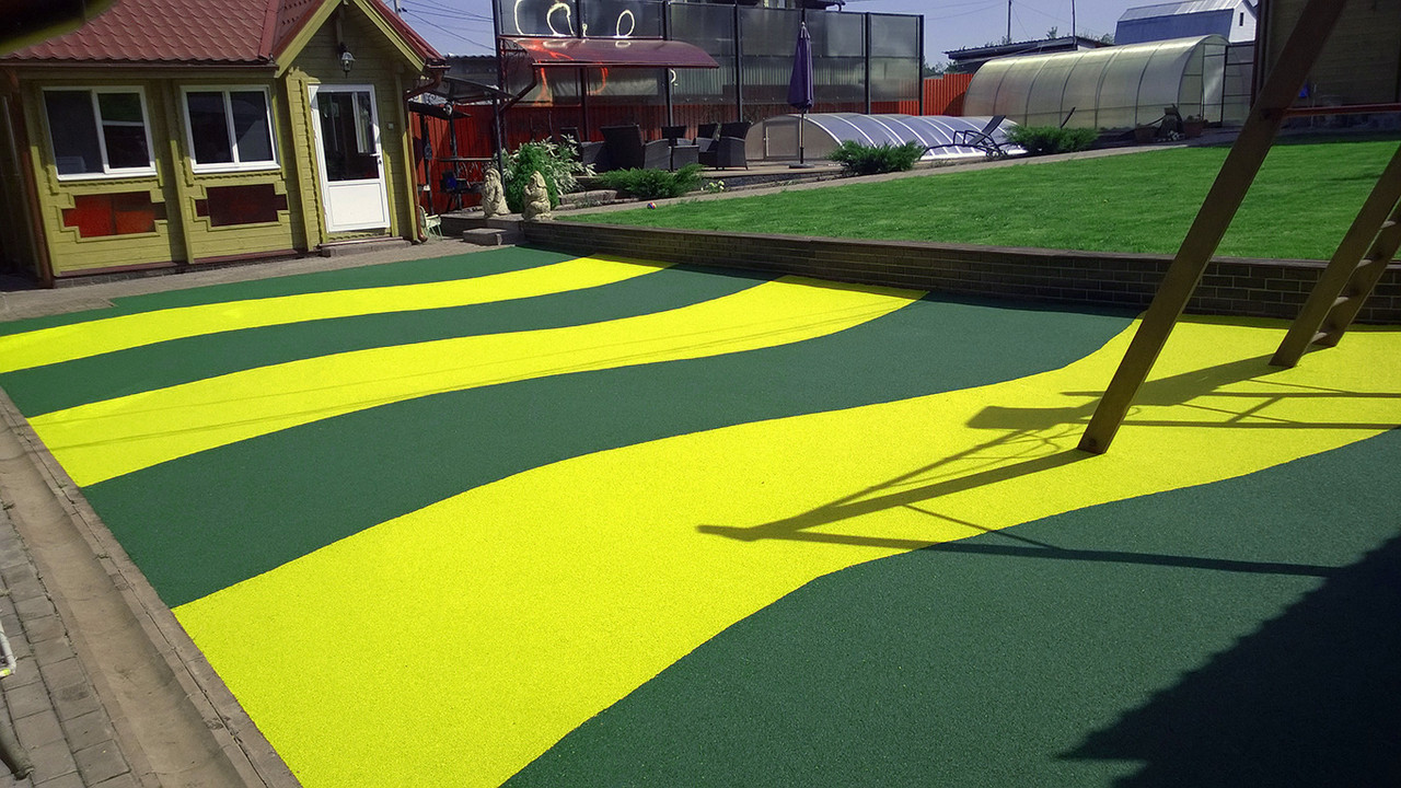 Резиновый коврик 1500х700х10 ярко-жёлтый