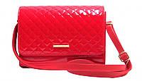 Женская лаковая сумка – клатч 8-736511199 Красный