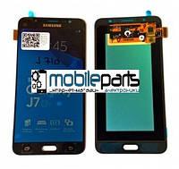 Оригинальный Дисплей (Модуль) + Сенсор (Тачскрин) для Samsung SM-J710H Galaxy J7 (2016) service (Черный)