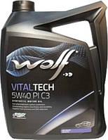 Моторное масло синтетическое Wolf VITALTECH 5W-40 PI С3 5 л