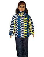 Детские теплые комбинезон с жилеткой