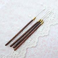 Индийский крючок для вышивания 0.5 мм - длина иглы 25 мм, 105 мм