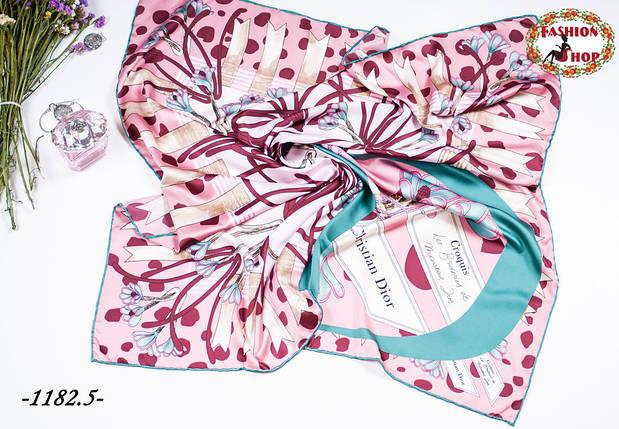 Брендовый шёлковый платок DIOR (реплика), фото 2
