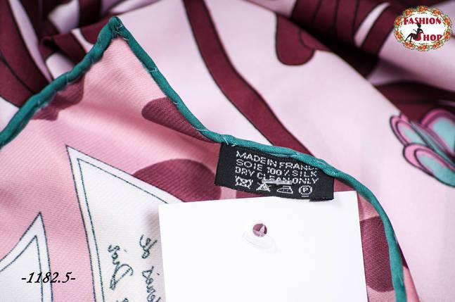 Брендовый шёлковый платок DIOR, фото 2