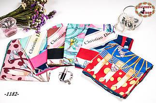 Брендовый шёлковый платок DIOR, фото 3