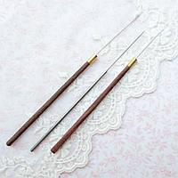 Набор индийских крючков для вышивания 0.5 мм, 3 шт