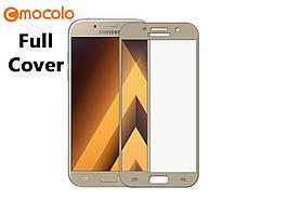 Защитное стекло Mocolo 2.5D 9H на весь экран для Samsung Galaxy J7 2017 J730 золотистый